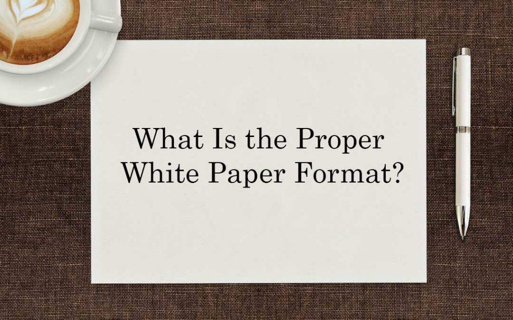 proper paper format