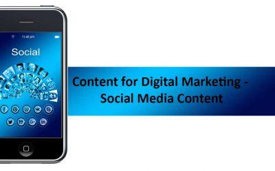 Content for Digital Marketing – Social Media Content